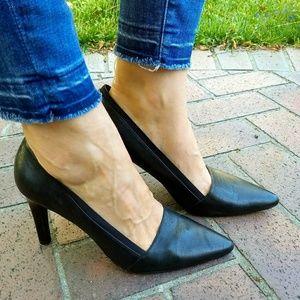 Franco Sarto Black Pointed Toe Pumps Size 10